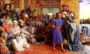 Finding the Savior in the Temple; William Holman Hunt 1859