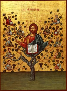 a Byzantine Icon of Jesus as the Tree of Life