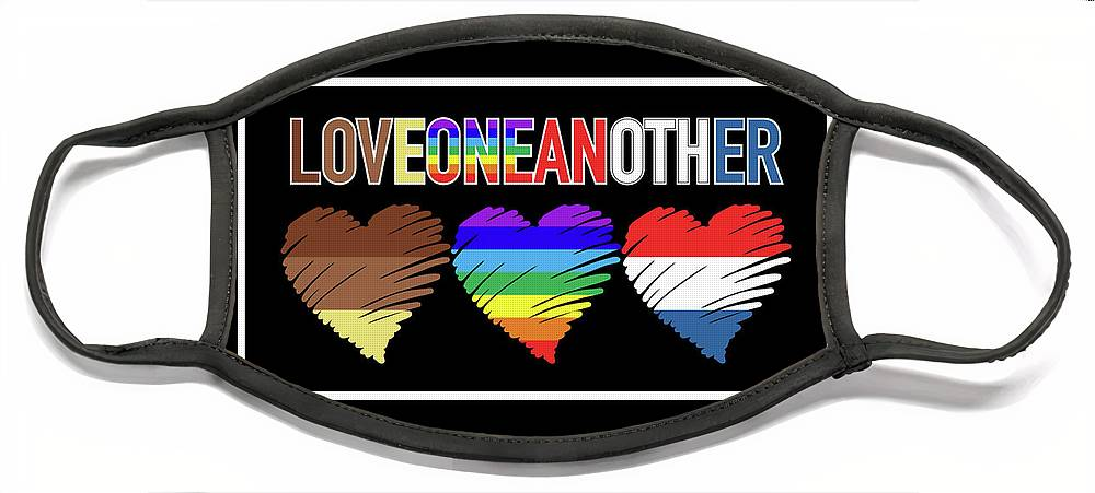 love-one-another-heart-art-tri-color-artistic-mystic