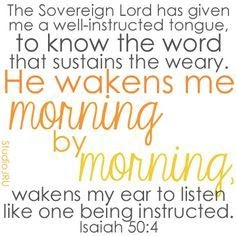 isaiah word to weary